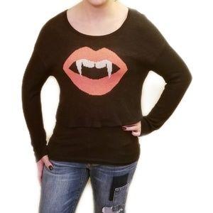 Halloween Vampire Crop Sweater